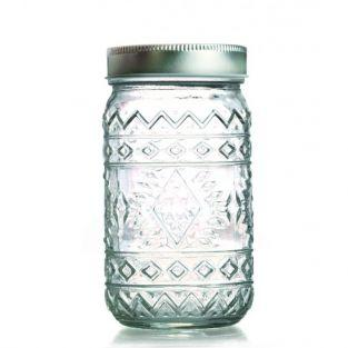 Glass jar with lid 50 cl - Ethnic