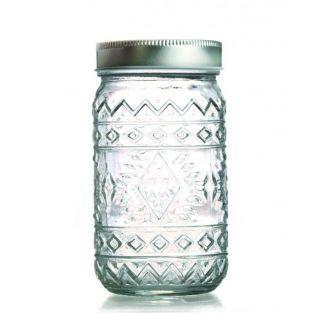 Tarro de vidrio con tapa 50 cl - Étnico