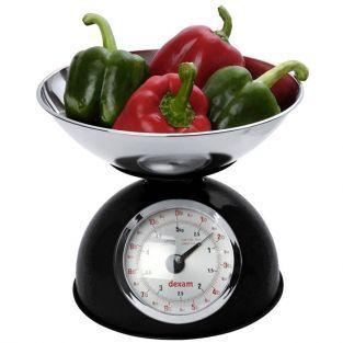 Balanza de cocina vintage 5 kg - Negro