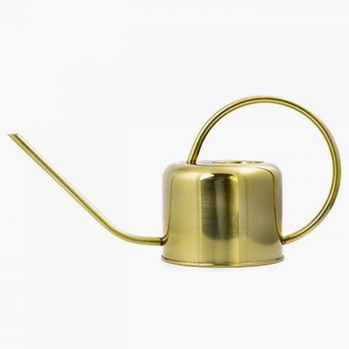 Arrosoir vintage doré en laiton