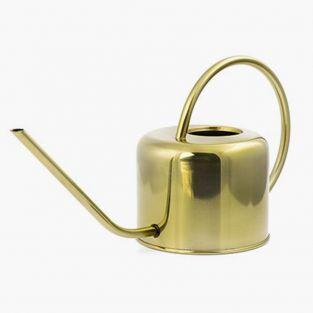 Regadera dorado de latón vintage