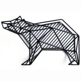 Portacartas de metal oso