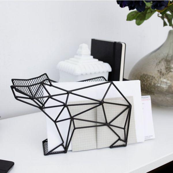 porte courrier organiseur m tallique mural ours kikkerland. Black Bedroom Furniture Sets. Home Design Ideas