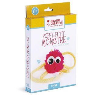Child gift box Wool and Tricotin - Poppy the little monster