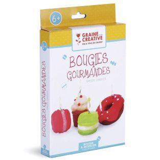 Coffret pour enfants - Bougies gourmandes à modeler