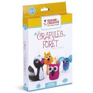 Coffret pour enfants Bougies à modeler - Les crapules de la forêt