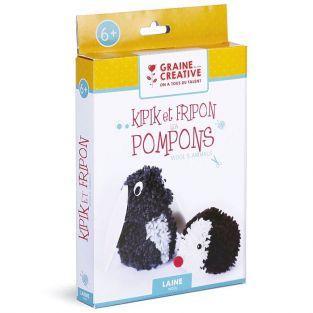 Set de regalo para niños - Animales con pompons