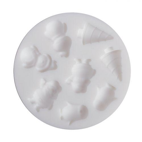 Mini silicone mold for polymer paste - Christmas