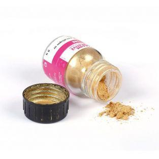 Powder with metallic effect for polymer paste - Golden