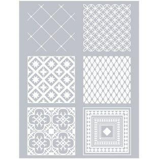Polymer paste stencil 11,4 x 15,3 cm - Cement Tiles