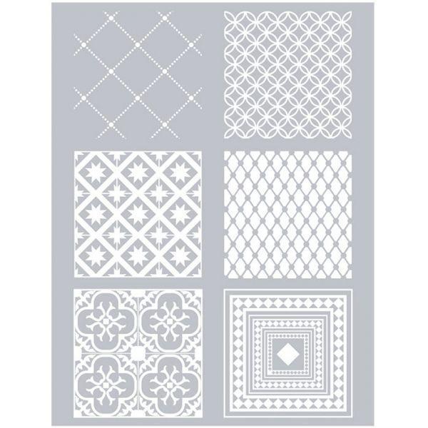 pochoir p te polym re carreaux de ciment fimo youdoit. Black Bedroom Furniture Sets. Home Design Ideas