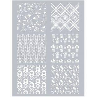 Polymer paste stencil 11,4 x 15,3 cm - Russia