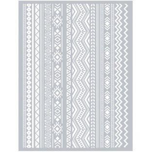 Esténcil para arcilla polimérica 11,4 x 15,3 cm - Azteca
