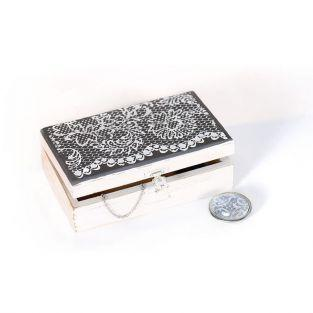 Polymer paste stencil 11,4 x 15,3 cm - Flower Lace