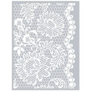 Polymer paste stencil 11,4 x 15,3 cm - Flower Lace