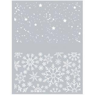 Polymer paste stencil 11,4 x 15,3 cm - Christmas