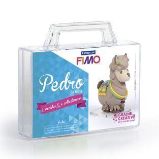 Figuras de arcilla polimérica - Llama Pedro