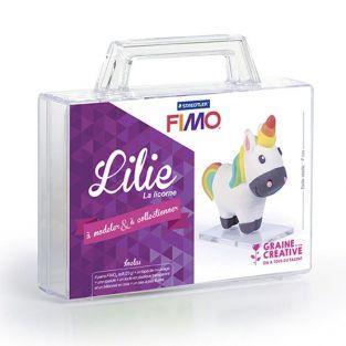 Figuras de arcilla polimérica - Unicornio Lilie