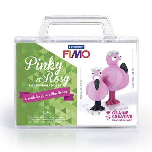 Coffret FIMO Ma première figurine - Pinky et Rosy les flamants roses