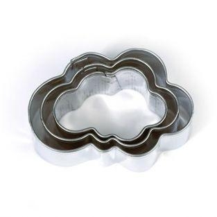 3 mini cookie cutters - Clouds