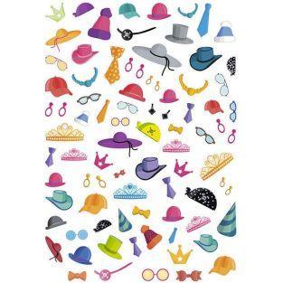 120 pegatinas adhesivas - accesorios y disfraces