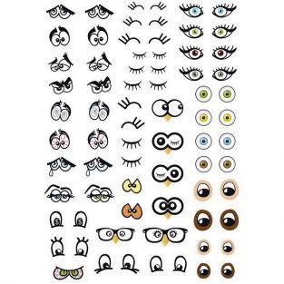 188 gommettes adhésives - yeux