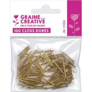 100 golden steel nails for String art - 20 mm
