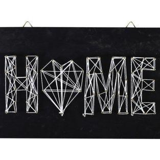 Set String Art - Blackboard Home deco 22 cm x 22 cm