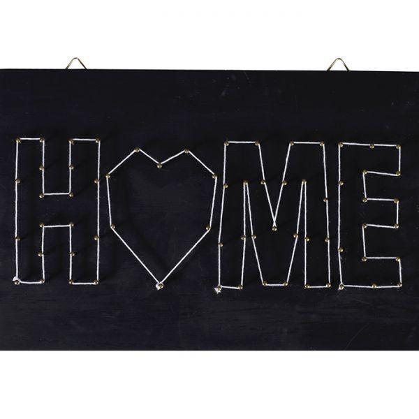 tableau noir home art filaire 22 cm x 22 cm string art. Black Bedroom Furniture Sets. Home Design Ideas