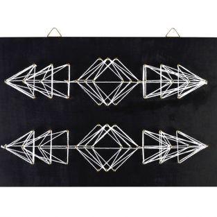 Set String Art - Blackboard Arrows 22 cm x 22 cm