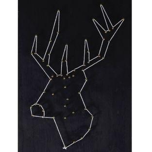 Set String Art - Blackboard Deer 22 cm x 22 cm