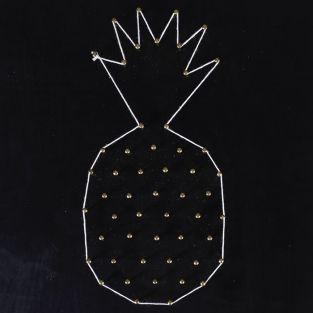 Set String Art - Blackboard Pineapple 22 cm x 22 cm