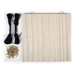 Set String Art - Wooden Board Do It Yourself 22 cm x 22 cm
