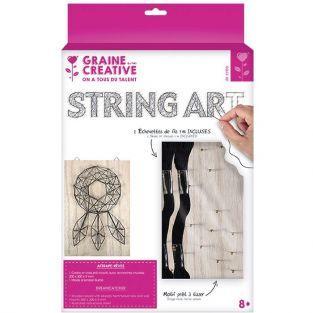 Coffret String Art - Tableau Attrape-rêves art filaire 20 x 30 cm