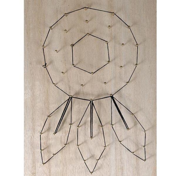 tableau attrape r ves art filaire 22 cm x 22 cm string art. Black Bedroom Furniture Sets. Home Design Ideas