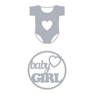Matrice de découpe naissance - Body baby girl 6 cm