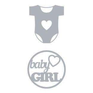 Thinlits Cutting die Birth - Baby girl 6 cm