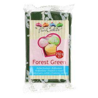 Sugar paste 250 g - Fir Green