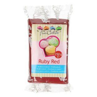Pasta de azúcar 250 g - rojo granate