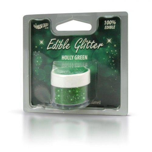 Brillo comestible verde de Navidad