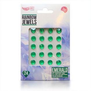 24 diamantes comestibles para pastelería - Verde