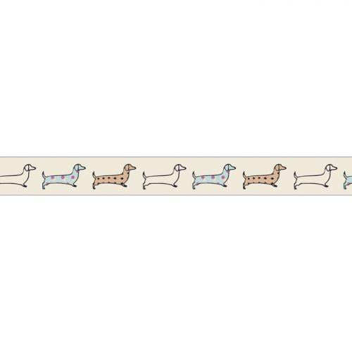 Masking tape 5m x 15 mm - Dachshund dog