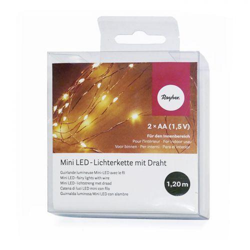 Guirnalda luminosa mini LED con alambre