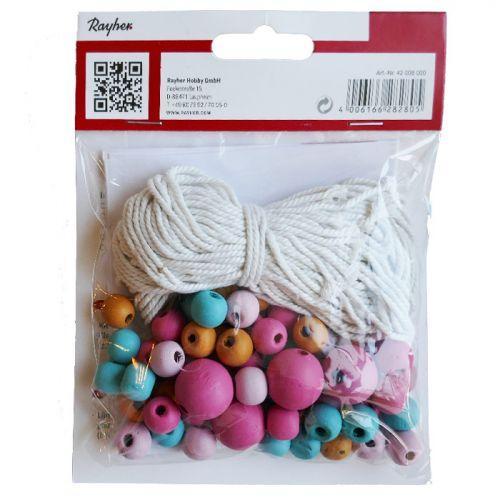 Kit Perles Bois Et Du Fil P Macrame Loisirs Creatifs Youdoit