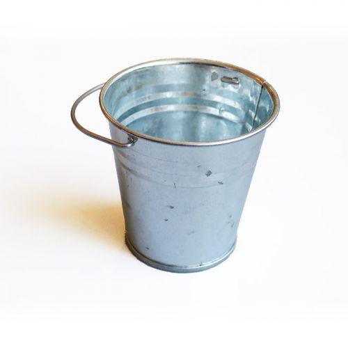 Mini zinc bucket 6 cm