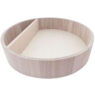 Etagère ronde en bois 34 x 7 cm