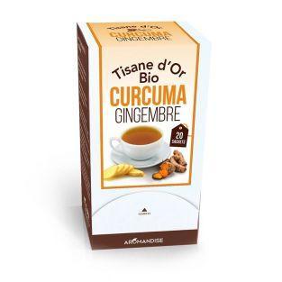 Tisane d'or biologique au Curcuma et gingembre - 20 sachets