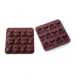 Silicone Mold - Christmas chocolates