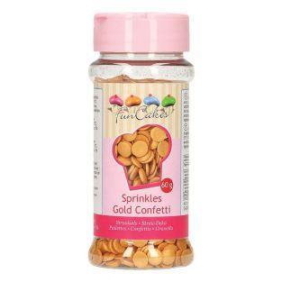 Decoraciones de azúcar confeti 60 g - Dorado
