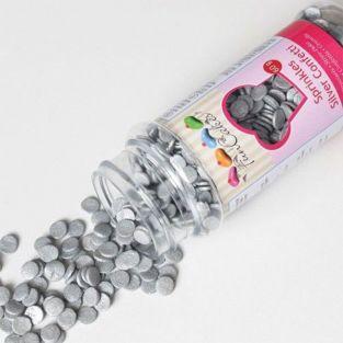 Confetti Sugar decorations 60 g - Silver